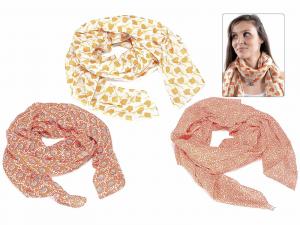 3 foulard in cotone con toni pesca