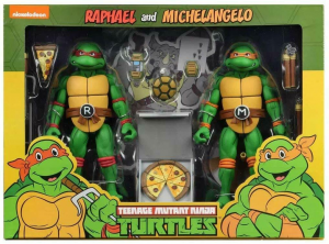 Teenage Mutant Ninja Turtles: Action Figure Animation Series - Wave 2 Michelangelo & Raffaello