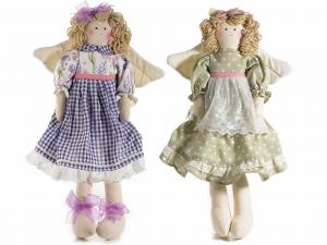 Due bambole fatine con ali in stoffa