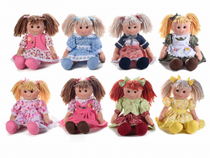 8 bambole grandi in stoffa imbottite