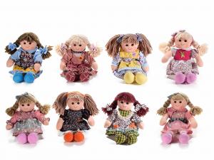 8 bambole in stoffa imbottite alte 32 cm
