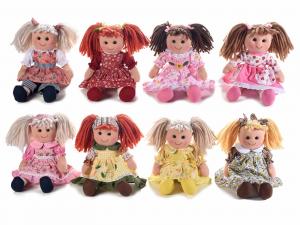 8 bambole in stoffa imbottite alte 30 cm