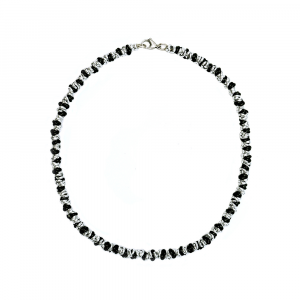 COLLANA TWIST MEDIUM ARGENTATA E NERA