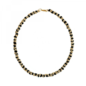 COLLANA TWIST MEDIUM DORATA E NERA