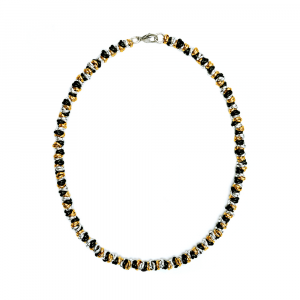 COLLANA TWIST LUCIDA MEDIUM ARGENTATA NERA E DORATA
