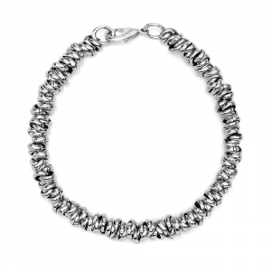 BRACCIALE LUCIDO TWIST MEDIUM ARGENTATO