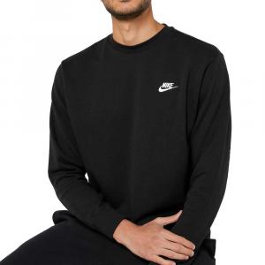Nike Felpa Basic Logo Black da Uomo