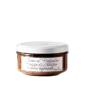 Crema al radicchio rosso di Treviso e olive taggiasche
