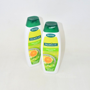 2 Shampoo Palmolive Naturals Fresh & Volume Con Agrumi