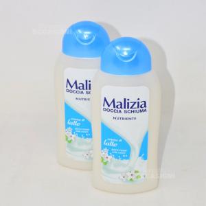 2 Doccia Schiuma Malizia Nutriente Con Crema Di Latte
