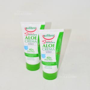 2 Crema Viso Equilibra Aloe 40% Idratante E Protettiva