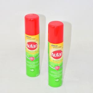 2 Autan Tropical Insetto Repellente Protezione A Lunga Durata
