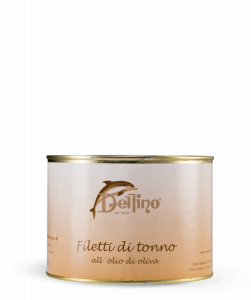 Filetti di tonno in olio in latta ml. 500