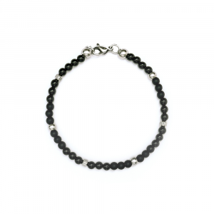BRACCIALE  MINI SFERE IN OSSIDIANA