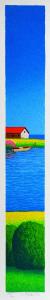 FIORENTINI ARTURO Serigrafia In riva al mare Formato cm 50x8