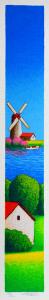 FIORENTINI ARTURO Serigrafia Mulino Formato cm 50x8