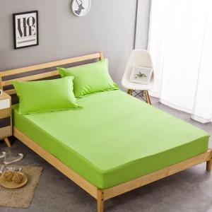 Lenzuola verde mela per letto singolo