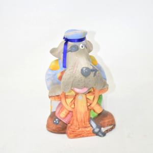 Oggetto Cane In Ceramica Ghe Guila La Barca