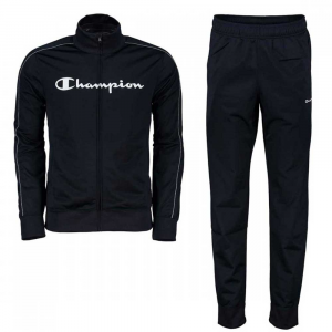 Champion Tuta Intera Full Zip Logo Black da Uomo
