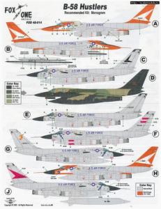 Convair B-58 Hustlers Fox One Decals FOD 48-014