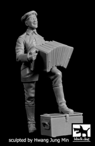 German Soldier with accordion