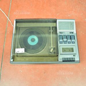 Giradischi con Radio E lettore Audiocassette + 2 Casse