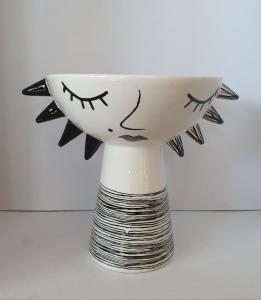 Vaso ceramica viso nero