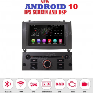 ANDROID autoradio navigatore per Peugeot 407 2004-2010 GPS DVD USB SD WI-FI Bluetooth Mirrorlink