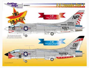 F-8 Crusader Part 3 F-8E Mig Killer Cutting Edge Modelworks CED48212