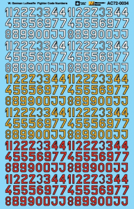 Luftwaffe Fighter Code Numbers