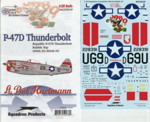 SUPERSCALE P-47D BUBBLETOP THUNDERBOLT 509TH FS, 405TH FG - MS320249