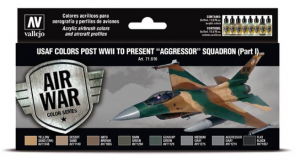 """USAF colors post WWII to present """"Aggressor"""" Squadron Part I"""