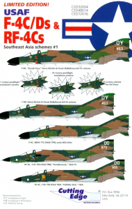 USAF F-4C/Ds & RF-4Cs Southeast Asia schemes #1 Cutting Edge Modelworks CED48014