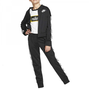 Nike Tuta Completa Swoosh Black da Bambina