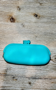 Portaocchiali silicone sabine be azzurro