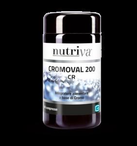 NUTRIVA CROMOVAL 200 Integratore alimentare che interviene positivamente nel metabolismo di grassi e zuccheri.\u00a0