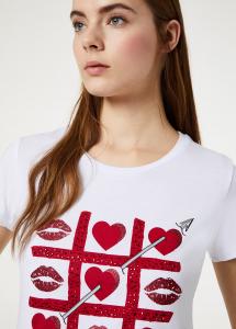 T-shirt moda Liu Jo jeans stampa