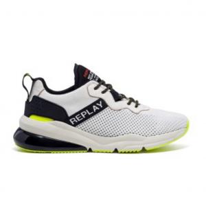 Sneaker bianca con suola bicolor Replay