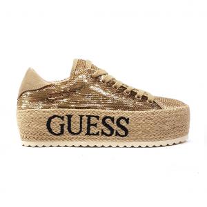 Sneaker oro con zappa corda Guess