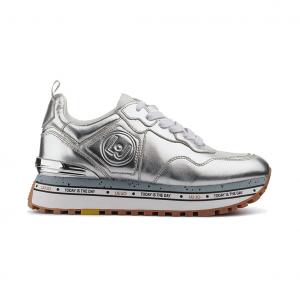 Sneaker argento con fondo platform Liu jo