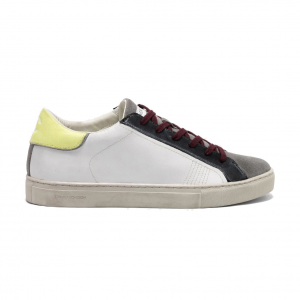 Sneaker bianca/gialla Crime London - IN ARRIVO