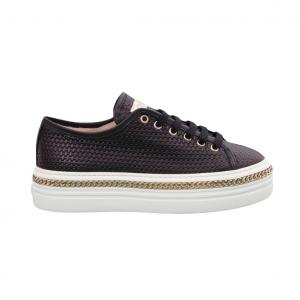Sneaker nera con catena Stokton