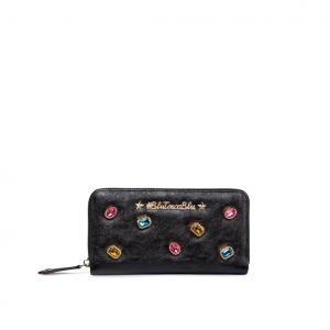 Portafoglio nero con applicazioni gioiello #BluToscaBlu - IN ARRIVO