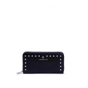 Portafoglio nero con studs PashBag