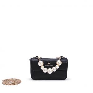 Minibag nera con perle PashBag