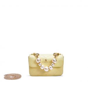 Minibag gialla con perle PashBag