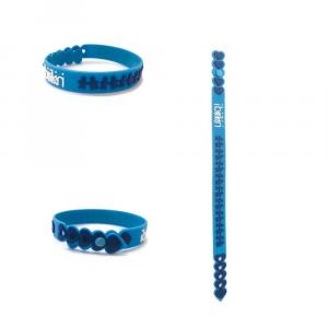 Braccialetto azzurro e blu birikini trenino colorato PVC anallergico Made in Italy adulti