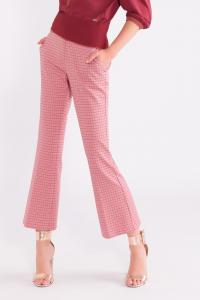 Pantalone flare glossy