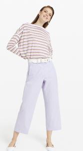 Pantalone cropped cotone