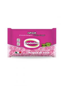 Salviette inodorina refresh profumo acqua di rose pz.40